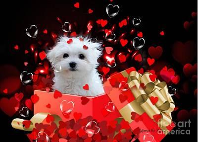 Mixed Media - Hermes The Valentine Boy by Morag Bates