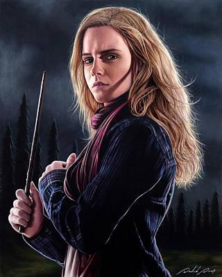 Drawing - Hermione Granger by David Dias