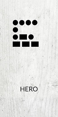 Digital Art - Hero Morse Code 2- Art By Linda Woods by Linda Woods