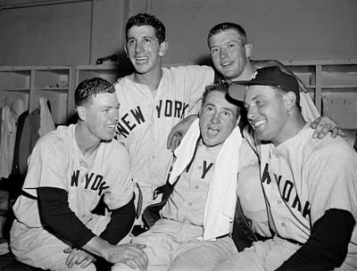 Photograph - Heroes Of Yesterdays 11-7 Yankee Win by New York Daily News Archive