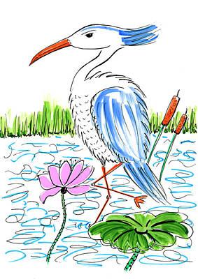 Painting - Heron by Steven Clarke