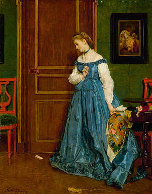 Painting - Hesitation by Alfred Stevens