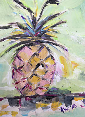 Contemporary Painting - Hey Pineapple by Roxy Rich