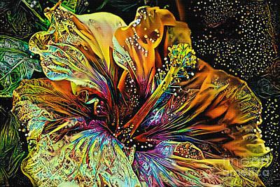 Digital Art - Hibiscus Art By Kaye Menner by Kaye Menner