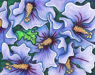 Painting - Hibiscus Blue Satin by Amy E Fraser