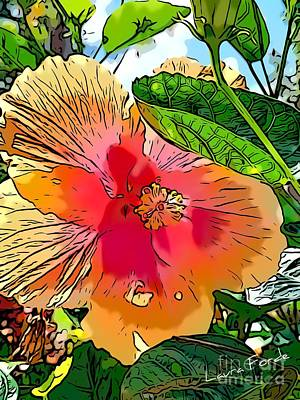 Digital Art - Hibiscus Flower by Laura Forde