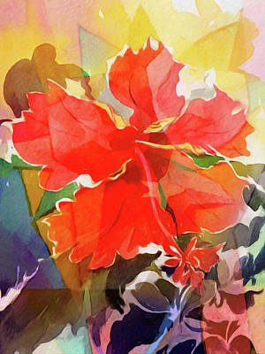 Painting - Hibiscus Flower by Lutz Baar