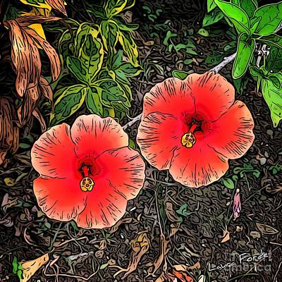 Digital Art - Hibiscus by Laura Forde