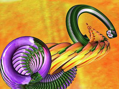 Digital Art - Hibiscus Snake by Christian Rutz