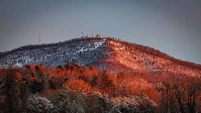 Hibriten Mountain - Lenoir, North Carolina Art Print