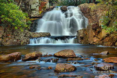Photograph - Hickory Run Pocono Waterfall by Adam Jewell