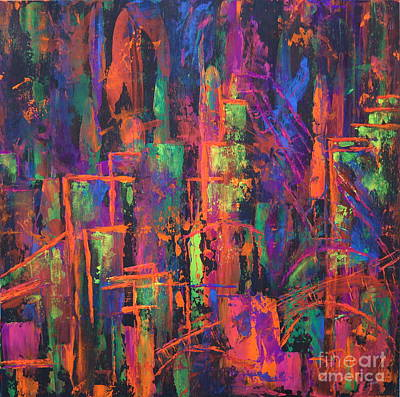 Painting - Hidden City by JoAnn DePolo
