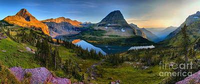 Photograph - Hidden Lake Sunset Perfection Panorama by Adam Jewell