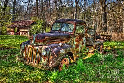 Photograph - Hidden Treasure 1947 Stakebed Flatbed Truck Art by Reid Callaway