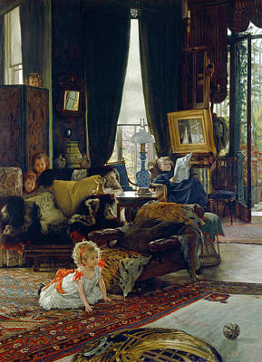 Painting - Hide And Seek By James Tissot by James Tissot