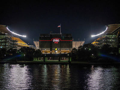 Photograph - Hienz Field At Night by Dan Urban