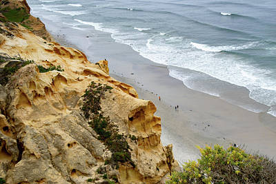 Photograph - High Above The Beach At Torrey Pines by Gloria Moeller