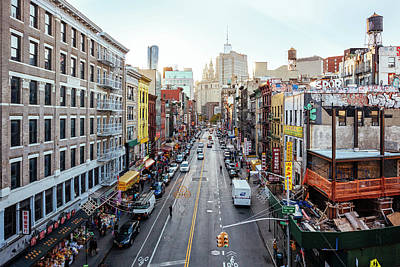 Photograph - High Angle View Of Chinatown From by Alexander Spatari