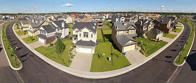 Photograph - High Angle View Of Suburban Houses by Ip Galanternik D.u.