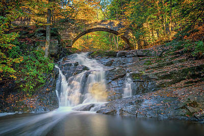 Photograph - High Arch Bridge In Vaughan Woods by Rick Berk