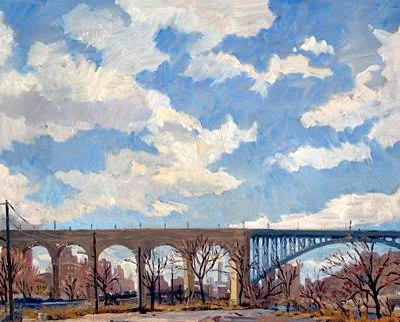 Painting - High Bridge Bright Sky Nyc by Thor Wickstrom