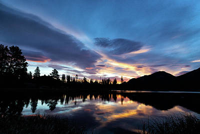 Photograph - High Country Sunrise Reflections by Tony Hake