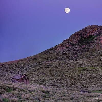 Photograph - High Desert Moonrise by Leland D Howard