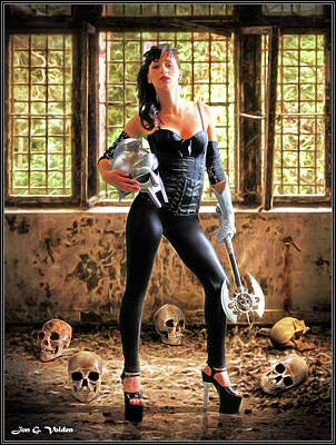 Photograph - High Heeled Zombie Slayer by Jon Volden