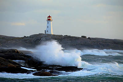 Photograph - High Surf At Peggy's Cove by Gary Corbett