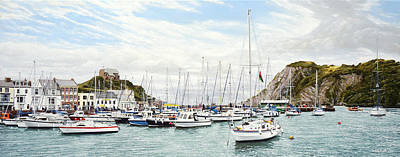 Painting - High Tide, Ilfracombe Harbour by Mark Woollacott
