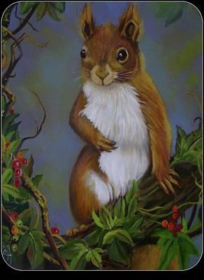 Highland Squirrel Art Print by Janet Silkoff