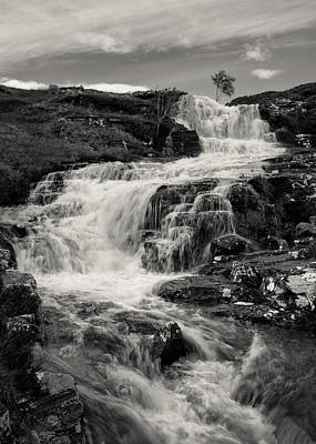 Photograph - Highland Waterfall by Dave Bowman