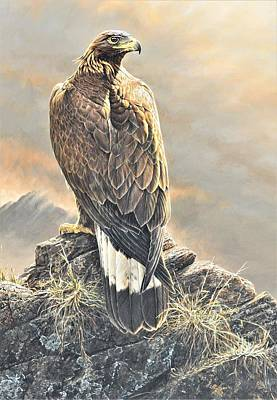 Art Print featuring the painting Highlander - Golden Eagle by Alan M Hunt