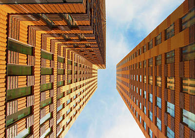 Financial District Photograph - Highrise In Amsterdams Financial by Photography Matthijs Borghgraef
