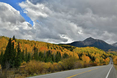 Photograph - Highway 145 Fall Colors And Sunshine Mountain by Ray Mathis