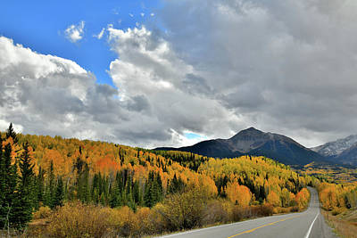 Photograph - Highway 145 Fall Colors South Of Telluride by Ray Mathis