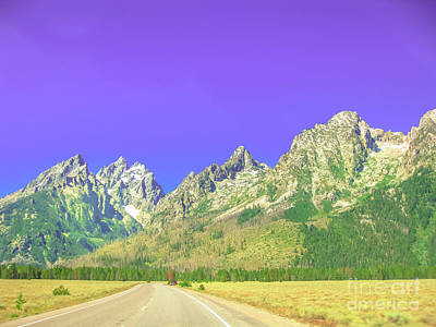 Photograph - Highway 191 Grand Teton by Benny Marty