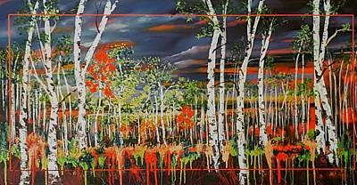 Lovely Lavender - Highway 69 Boulder Aspens       64 by Cheryl Nancy Ann Gordon