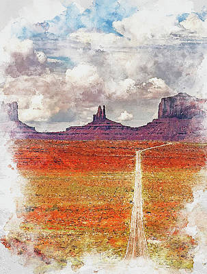 Painting - Highway In The Desert - 02 by Andrea Mazzocchetti