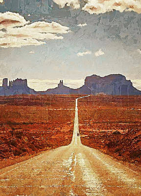 Painting - Highway In The Desert - 04 by Andrea Mazzocchetti