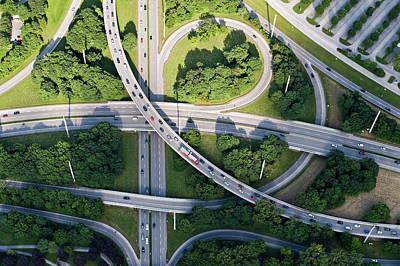 Photograph - Highway Interchange by Daniel Reiter