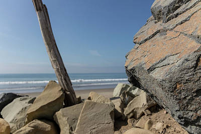 Photograph - Highway One Rock And Water  by John McGraw