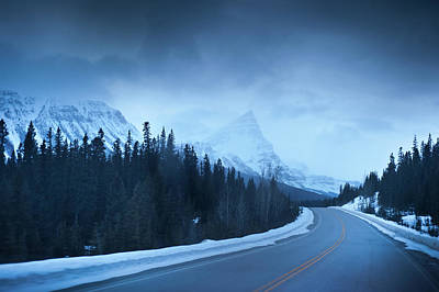Photograph - Highway Through The Canadian Rockies by Kjell Linder