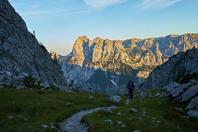 Photograph - Hiker In The Morning by Lukas Kerbs