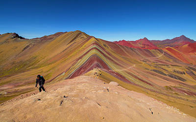 Photograph - Hiking Rainbow Mountain, Peru by Venetia Featherstone-Witty