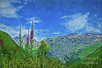 Painting - Hiking The Mountain A18-29 by Ray Shrewsberry