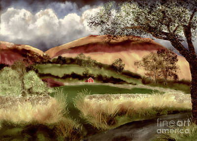 Digital Art - Hills And Dales by Lois Bryan