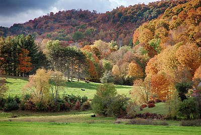 Photograph - Hills Of Pomfret Vermont In Autumn by Jeff Folger