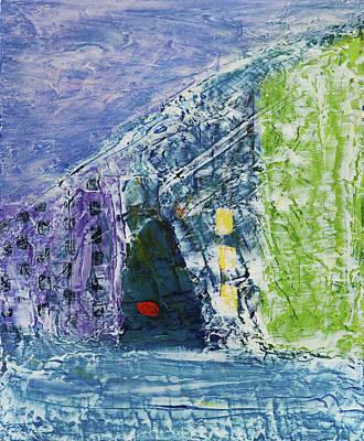 Painting - Hillside House by Evy Olsen Halvorsen