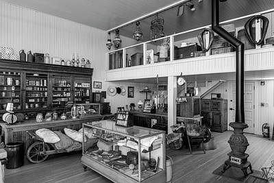 Photograph - Hindsman General Store - Allensworth State Park - Black And White by Gene Parks